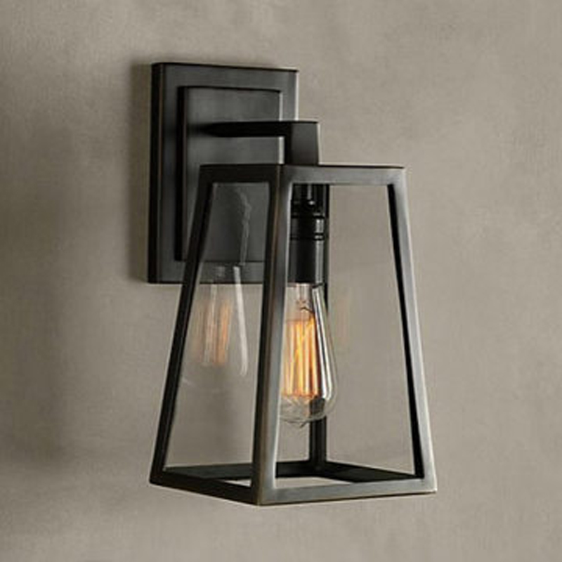 American Vintage Iron wall Lamp Loft Outdoor Wall Lights Bedside Lamp With E27 Bulb Wall Sconce Bathroom Stair Light ZBD0105 led outdoor wall sconce wall mounted lamp garden porch light bedside lamp balcony sconce aisle light vintage wall sconces