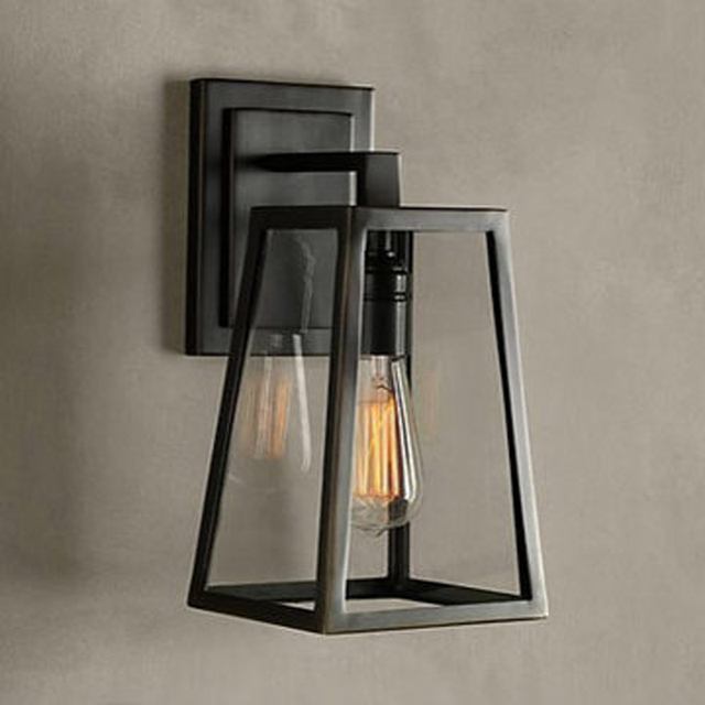 American vintage iron wall lamp loft outdoor wall lights bedside american vintage iron wall lamp loft outdoor wall lights bedside lamp with e27 bulb wall sconce mozeypictures Images