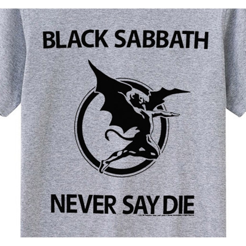 Black Sabbath nunca digas muere camiseta de algodón modal de alta - Ropa de hombre