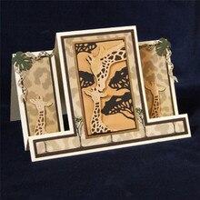 YaMinSanNiO 1Pc/lot Metal Cutting Dies Scrapbooking For Card Making DIY Embossing Cuts New Craft Giraffe Pattern Animal