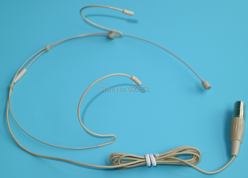 Professional Headset / Headworn Microphone for Shure Wireless System TA4F Microdot SH A002