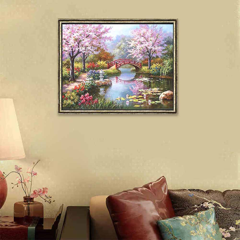 DIY Painting By Numbers Canvas Romantic Fairyland Handpainted Wall ...