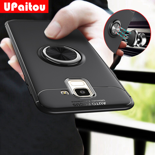 buy popular f5ddb 0052a US $4.49 10% OFF UPaitou Car Holder Case for Samsung Galaxy J6 Back Cover  Ring Holder Stand Magnetic Suction Bracket Case for Sasmung J6 2018-in ...