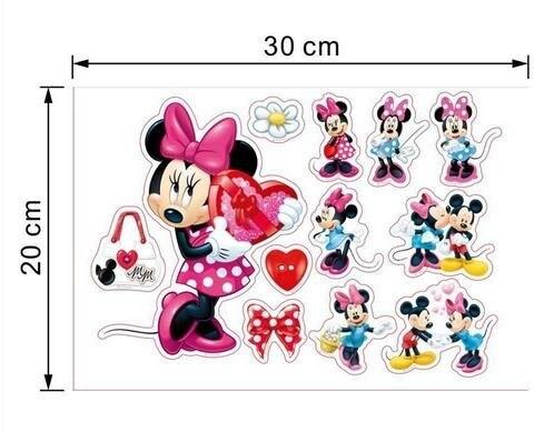 Hot Mickey Mouse Minnie Vinyl Mural Wall Sticker Decals Kids Nursery Room Decor Home Decor Decal Cartoon stickers