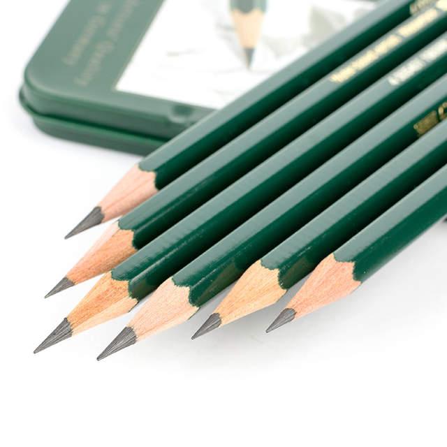 2ef1e25398 Faber Castell 6 Castell 9000 Lápis Grafite para Escrever Desenho e Desenhar  Lata Caixa 6 Pcs