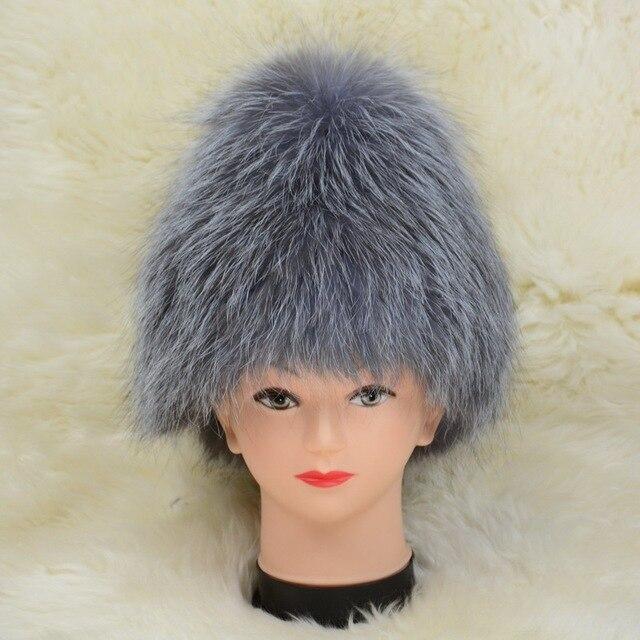 S1313 Wholesale / Retail New Real Fox Fur Hat / Women Winter Fur Cap With Elastic