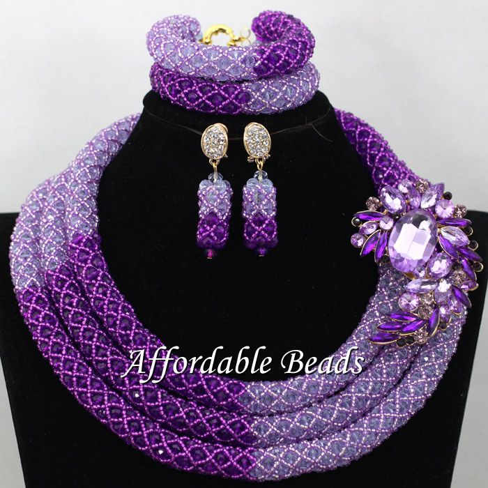 Unique Nigerian Jewelry Set Hot Selling African Bead Sets Bridal Style Wholesale NCD156Unique Nigerian Jewelry Set Hot Selling African Bead Sets Bridal Style Wholesale NCD156