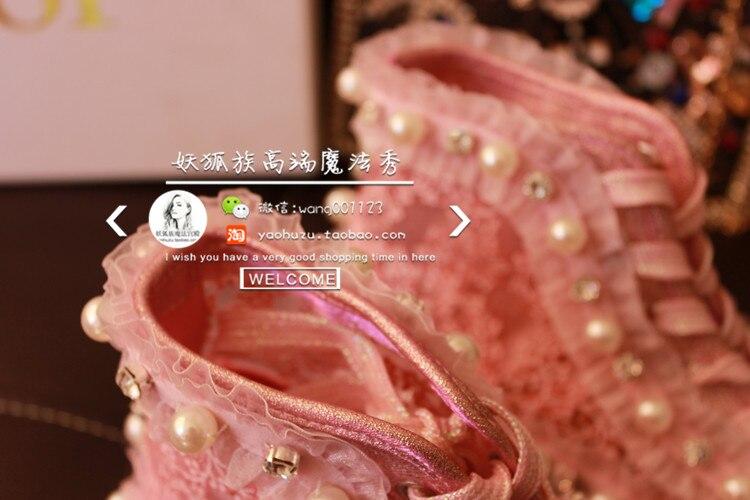 Top Up Lace Respirant Sneaker Haute L Faux Dentelle Perle C25 Femmes Chaussures Casual rdCexBo