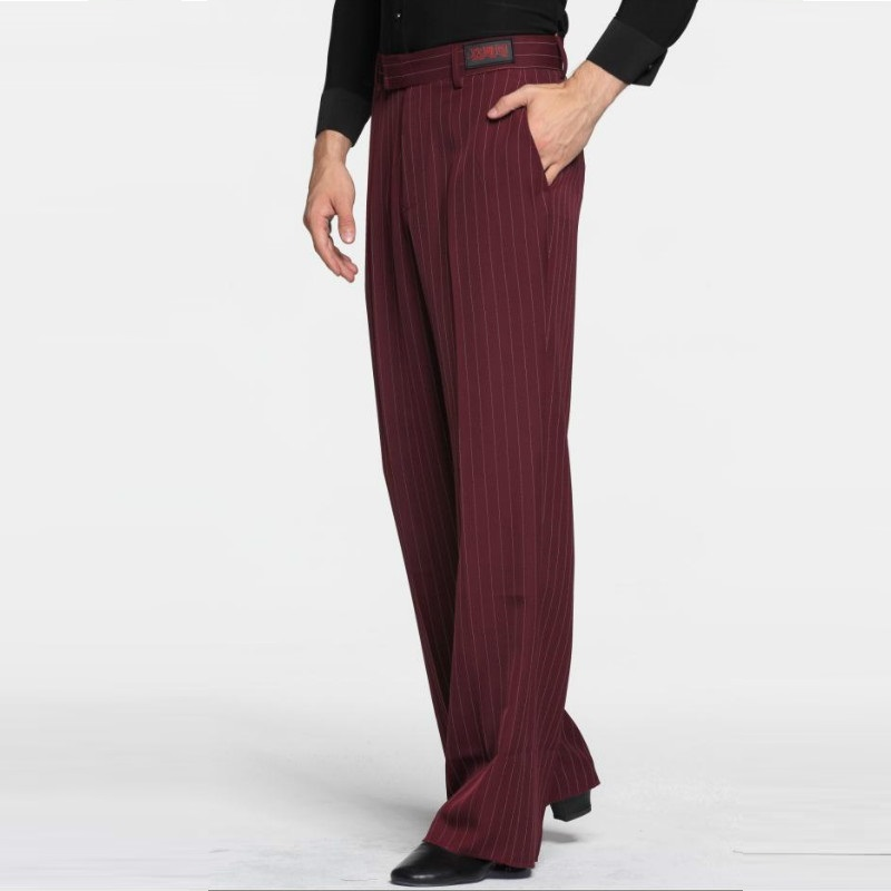 Sexy Latin Dance Pants Men's Red Ballroom Dancing Clothes Men Rumba Samba Profession Modern Square Chacha Trousers B-6976