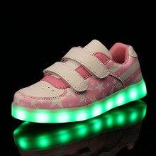 2016 font b Kids b font Fashion font b Luminous b font font b Shoes b