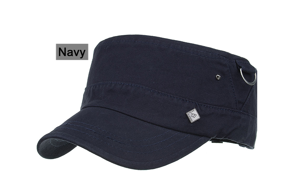 AKIZON New Arrival Spring Unisex Adjustable flat cap Military Hats ... c9c74d309