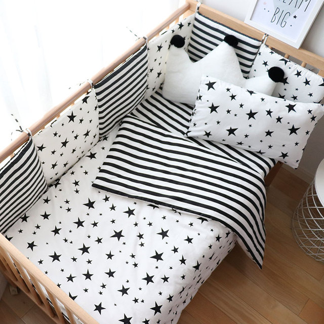 Baby Bedding Set Nordic Baby Items For Newborns Cotton Kids Crib Bedding Set With Bumper Nursery Decor Baby Bed Linen For Infant | Happy Baby Mama