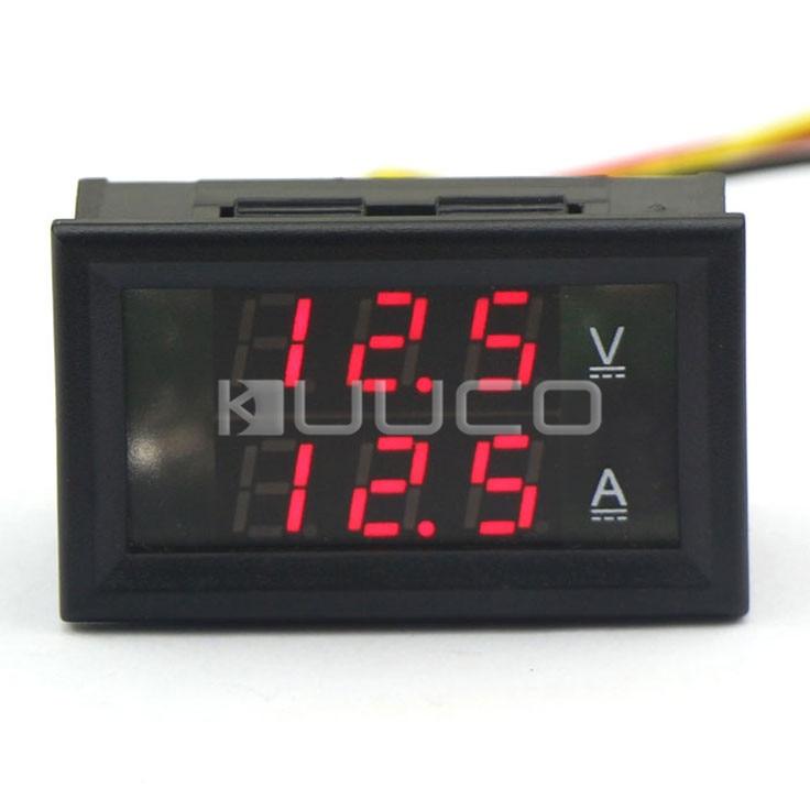 Tools Alert Digital Meter Dc 4.5~30v/50a Red Led Display Voltage Ampere Meter 2in1 Voltmeter Ammeter Dc 12v 24v Panel Meter/monitor/tester Instrument Parts & Accessories