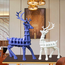 Modern European Deer Milu Figurine Ornament Home Office Stylish Art Decoration Craft