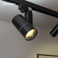 Aisilan Modern LED Track Spotlights COB Ceiling Lamps 360+180 Angle Adjustable AC85 260V 5/7W Lighting Fixtures Living Room Shop