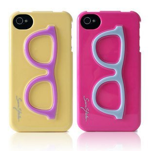 tridea pop art collage crystal dot glass case for iphone 4s 4