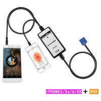 Moonet Voiture MP3 CD Aux-In Adaptateur 3.5mm Auxiliaire pour iphone Pour 2.3 14 p S2000 2000-04 MDX 01-04 RSX 2002-06 (sauf type S) QX264