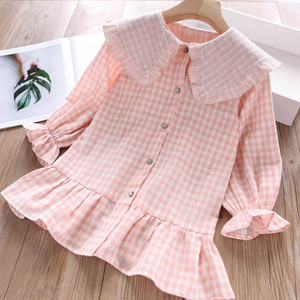 Image 3 - Humor Bear 2019 Children Clothes Spring & Autum Girls Dress Brand New Plaid Doll Collar Long Full Sleeves Princess Party Dress