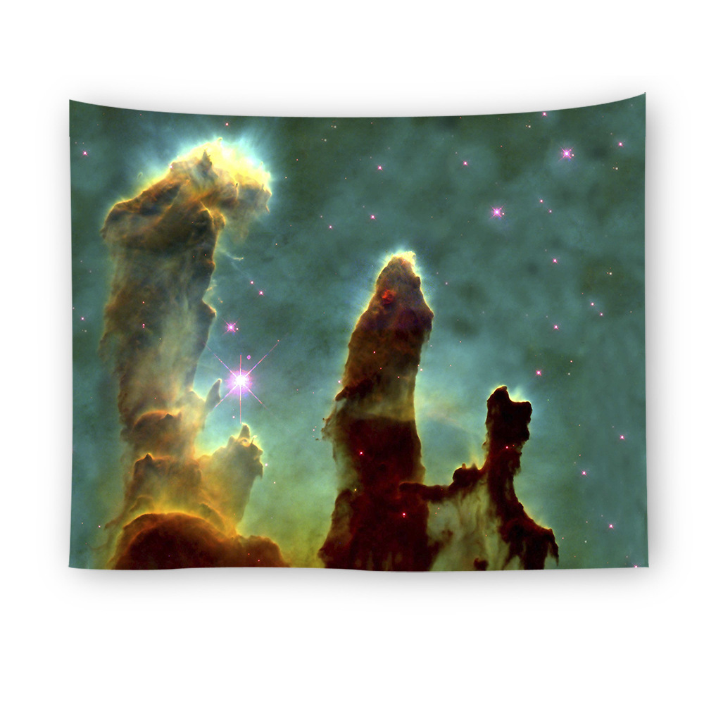 LYN&GY Galaxy Tapestry Space Wall Hanging Mandala Carpet Polyester Fabric Table Cloth Beach Towel 5 sizes Decor
