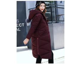 2017New Plus Size 5XL Long Loose Parka Lady Fashion Hooded  Coat Women Thick Cotton Padding Warm Winter Jacket Women Outwear
