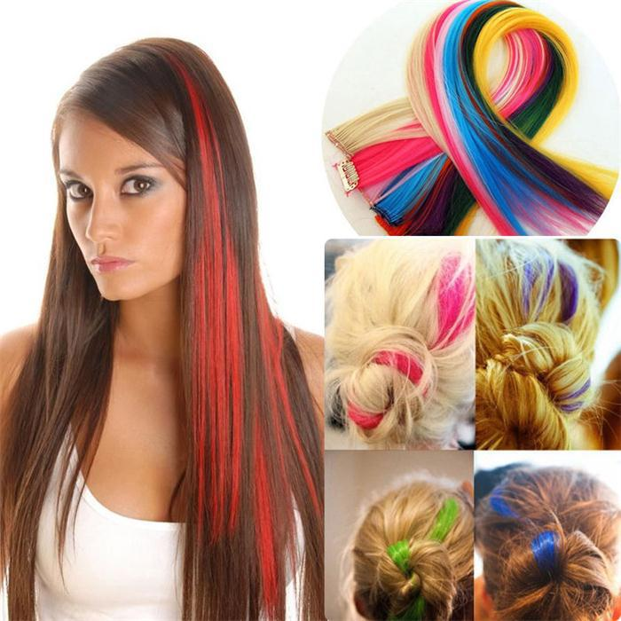 Clip in hair picture more detailed picture about trending ombre trending ombre synthetic clip in on highlighted dip dye hair extensions straight 8 colors 2 pcs pmusecretfo Image collections