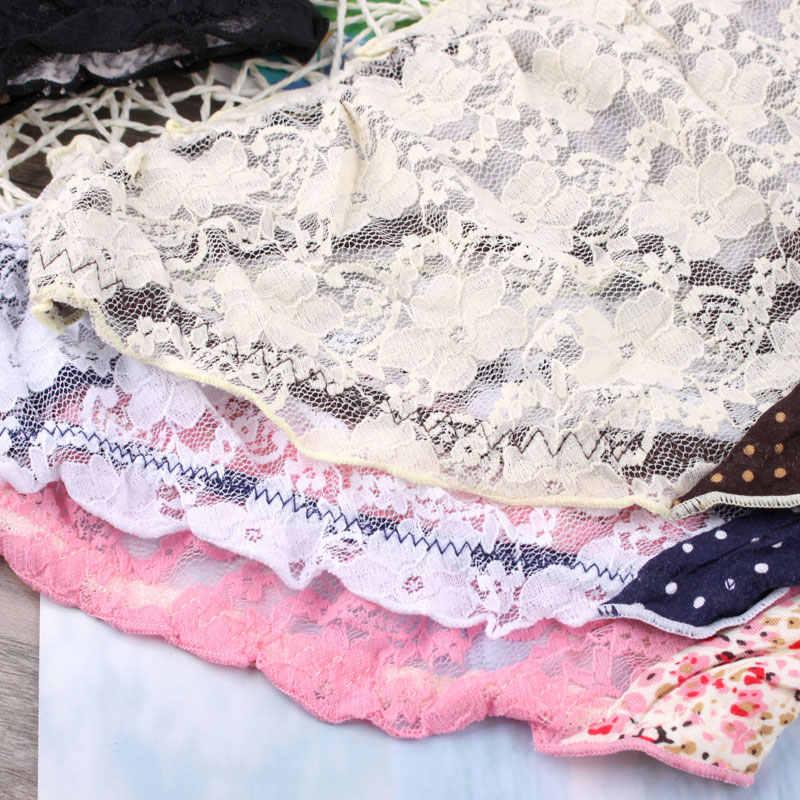 9593432985 ... Sweet girl Japanese sexy underwear waist hip lace flower Ruffle briefs  dot Leggings panties female leopard ...