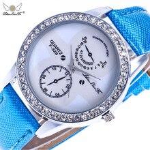 Модные Простые масштаба Silver Diamond Сплава циферблат синий кожаный ремешок 20 мм Для мужчин пары Роскошные Кварцевые часы Белый наручные часы Для мужчин c411