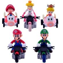 5pcs/set Super Mario Bros car Action Figures Anime PVC brinquedos Collection Figures toys AnnO00699M