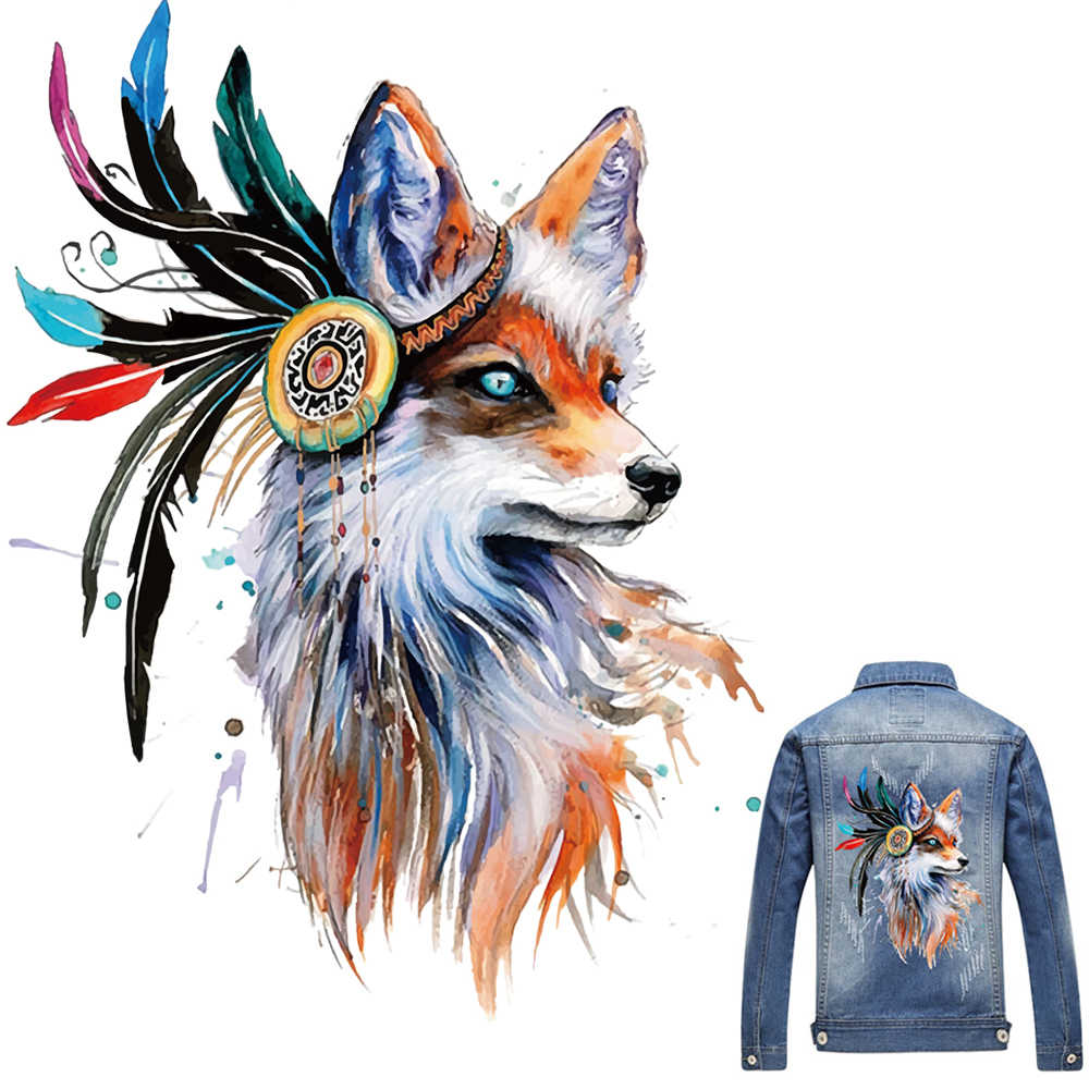 1Pcs Novo Fox Patches Para Roupas Coloridas Fox T-shirt do Remendo de Vestidos de Camisola DIY Acessório Decoração UM-nível Lavável appliqued