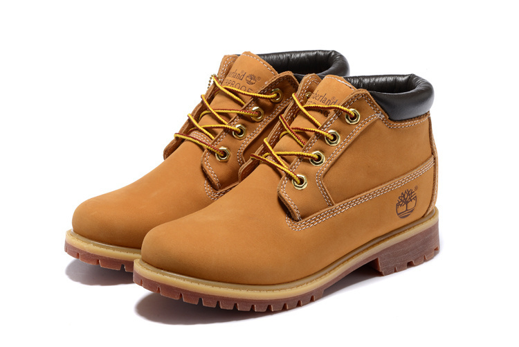 TIMBERLAND Classic Men's 23061 Premium Waterproof Middle-Top Ankle Boots For Men Male Nubuck Genuine Leather Wheat Yellow Shoes  1
