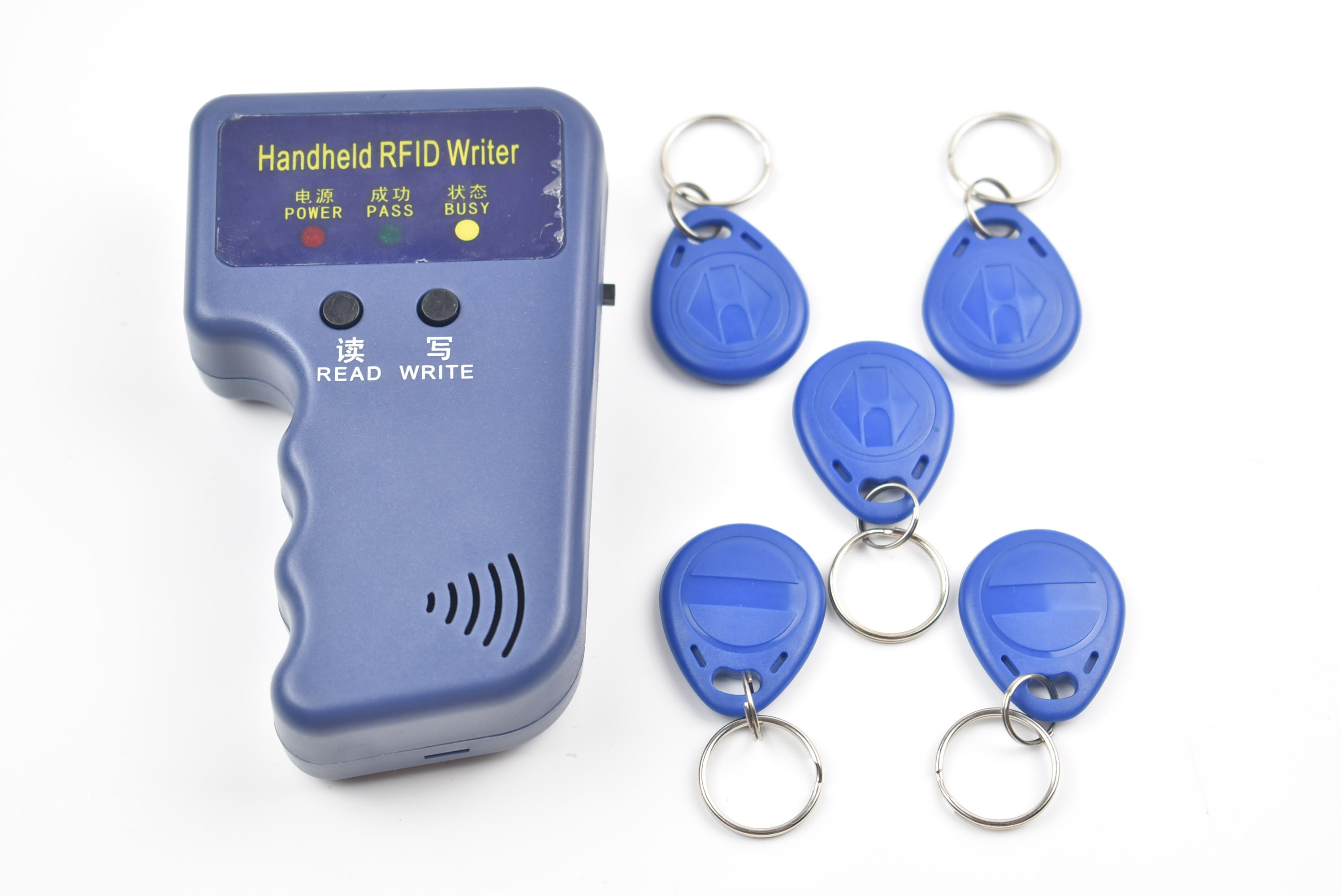 125KHz RFID ID Card Reader & Writer/Copier/Duplicator/Programmer + 5pcs Writable EM4305 T5577 Tags Access Control handheld 125khz rfid id card duplicator programmer reader writer copier duplicator 6 pcs cards 6 pcstags kit