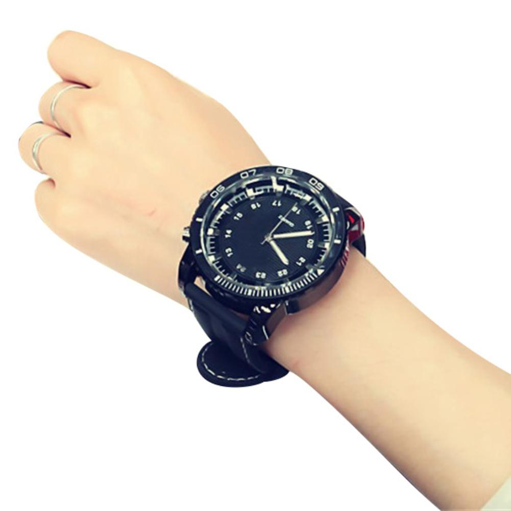 Sanwood relogio Sport Large Dial Men Women Faux Leather Band Quartz Wrist Watch Couple couple watch reloj