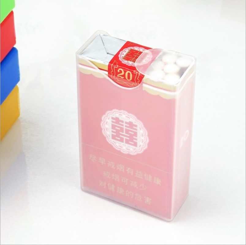 Boîte à cigarettes en plastique Transparent 1 pièce | Portable, étui à cigarettes en plastique avec briquet Anti-pression, support de rangement, Gadget de fumer