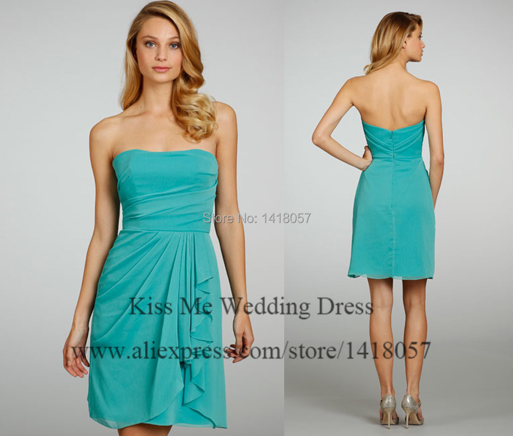 Popular Short Turquoise Bridesmaid Dresses-Buy Cheap Short ...