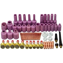 TIG Gas Lens KIT Back Cap Collet Body Fit TIG Welding Torch SR WP17 18 26 67PK 46pcs tig gas lens collet body assorted size kit for tig welding torch sr wp9 20 25 tig welding torches tools set