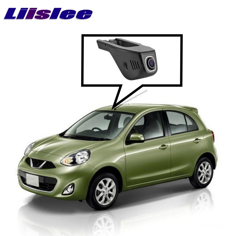 LiisLee Car Black Box WiFi DVR Dash Camera Driving Video Recorder For NISSAN March Micra K13 k14 2010~2017 bigbigroad app control car wifi dvr for vw tiguan dual camera driving video recorder car dash camera car black box night vision