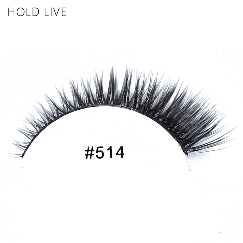 HOLD LIVE New 1Pair False Eyelashes Natural Black Long Tapered Hand Made Makeup Eyelash Extension 22Style 3D Fake Eye Lashes 514