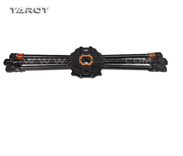 F08614 Tarot T960 Full Carbon Fiber 6-axle Foldable Hexacopter Frame Rack Kit FPV TL960A for DIY 6-axle Multicopter Drone FPV zd850 full carbon fiber frame kit with unflodable landing gear foldable arm 6 axle hub set for diy fpv aircraft hexacopter