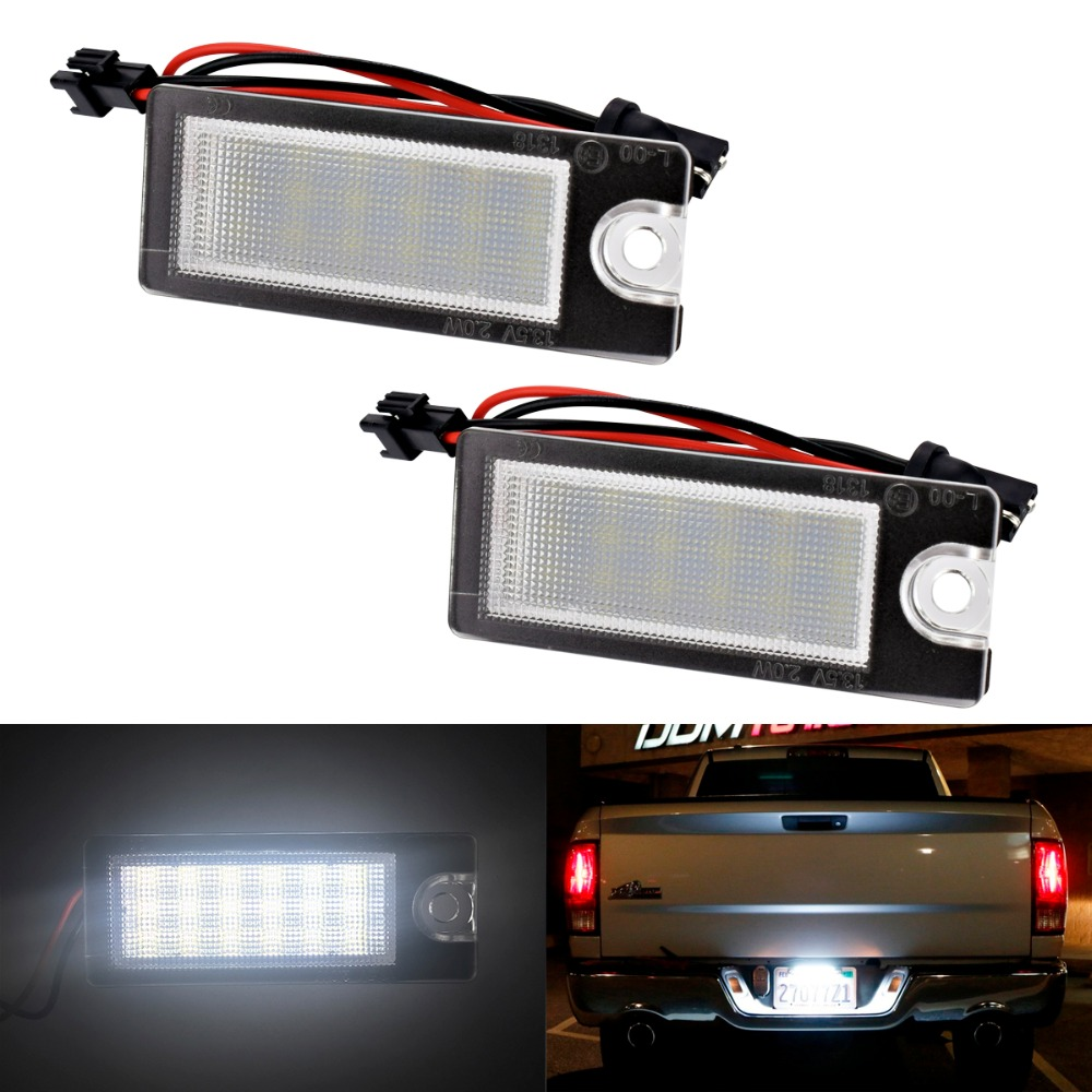 2Pcs car styling Car 18 LED License Plate Light White Number Plate Lamp For Volvo S80 99-06 V70 XC70 S60 XC90 Accessories motorcycle tail tidy fender eliminator registration license plate holder bracket led light for ducati panigale 899 free shipping