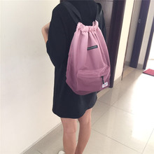 Gradient color skateboard drawstring bag easy to carry suitable for women travel backpacks