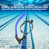 Training Professional Swimming Front Breathing Dry Scuba Diving Snorkel Positive Single Snorkeling Tube Soft Silicone Underwater