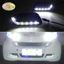 For Mercedes Benz Smart fortwo 2008 - 2011 12V LED CAR DRL Daytime Running Lights Daylight Signal Fog lamp Driving light цена 2017