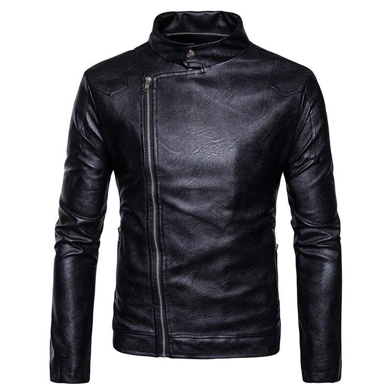 Для мужчин Кожаная Куртка Мода PU Мужской белая кожаная мотоциклетная куртка пальто Для мужчин s брендовая одежда пальто чёрный; коричневый ...