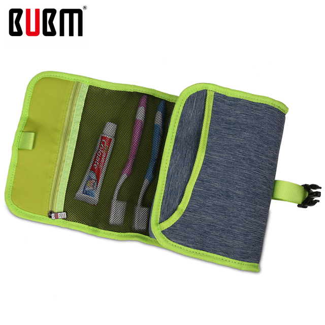 BUBM Wash Supplies Pack Electronics Accessories Organizer Digital Storage Bag Travel Carrying Case blue grey rose