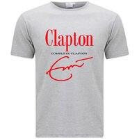 New ERIC CLAPTON Complete Clapton Music Legend Men's Grey T Shirt Size S 3XL