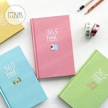 Корейский 365 день личный дневник планировщик Тетрадь Шул организовать повестки дня обратите внимание, книга 112 листов блокноты офис школьные принадлежности подарок
