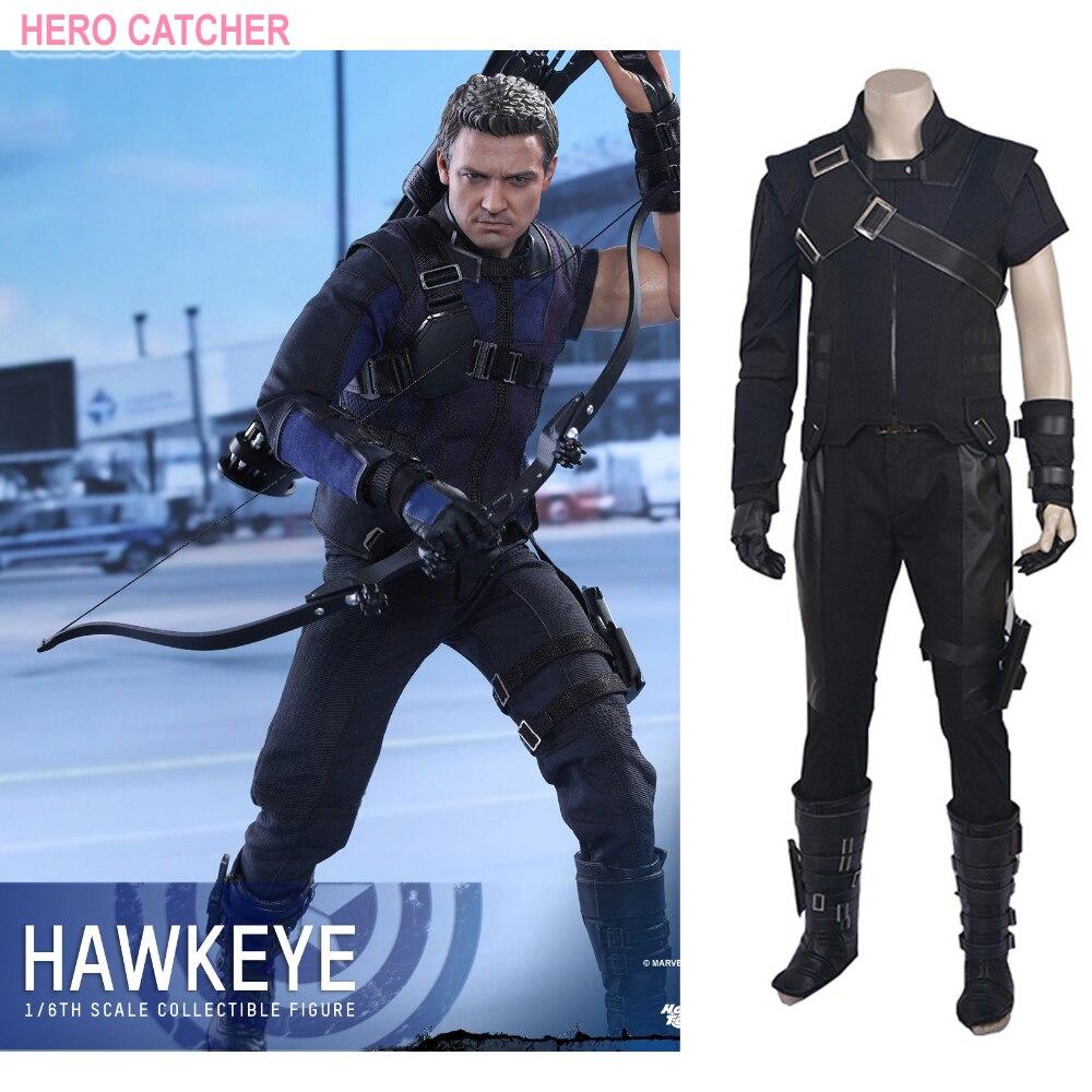 Hero Catcher High Quality Custom Made Captain America: Civil War Hawkeye Cosplay Costume Hawkeye Costume