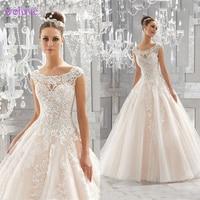 Robe de mariee lace wedding dress high end 2019New arriv bride simple bridal gown real photo weddingdress vestido de noiva boho