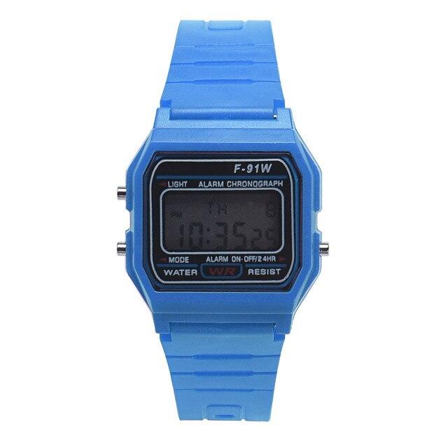 2017 Men Girl Digital Round Rubber Quartz Sport Fashion Waterproof Wrist Watch W
