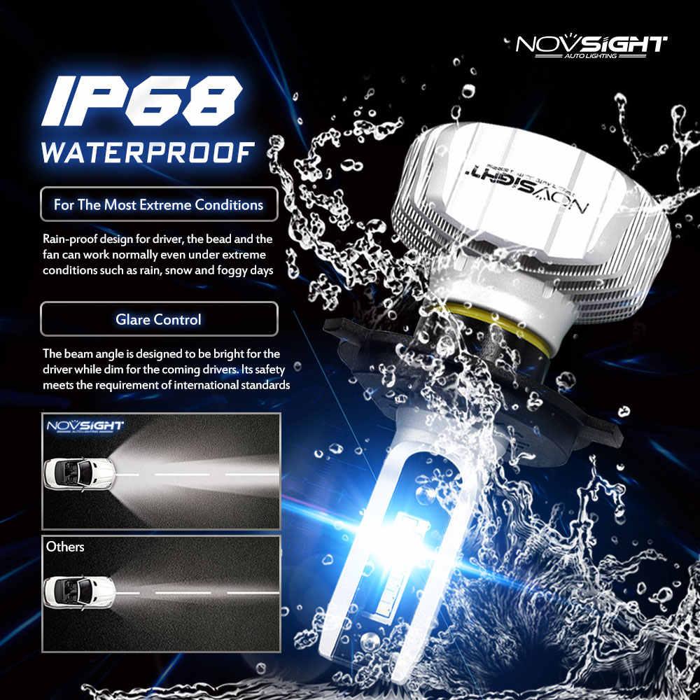NOVSIGHT led h7 headlight double New Car Headlight Bulbs h4 h7 9005 hb3 9006 hb4 LED 6500k 10000lm 12v 24v Mini Car Lights Bulbs